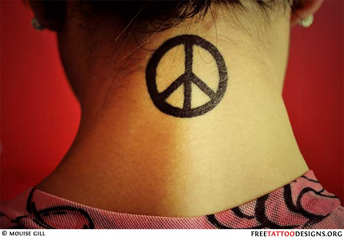 50 peace sign tattoos. Black Bedroom Furniture Sets. Home Design Ideas