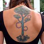 Pen tree tattoo