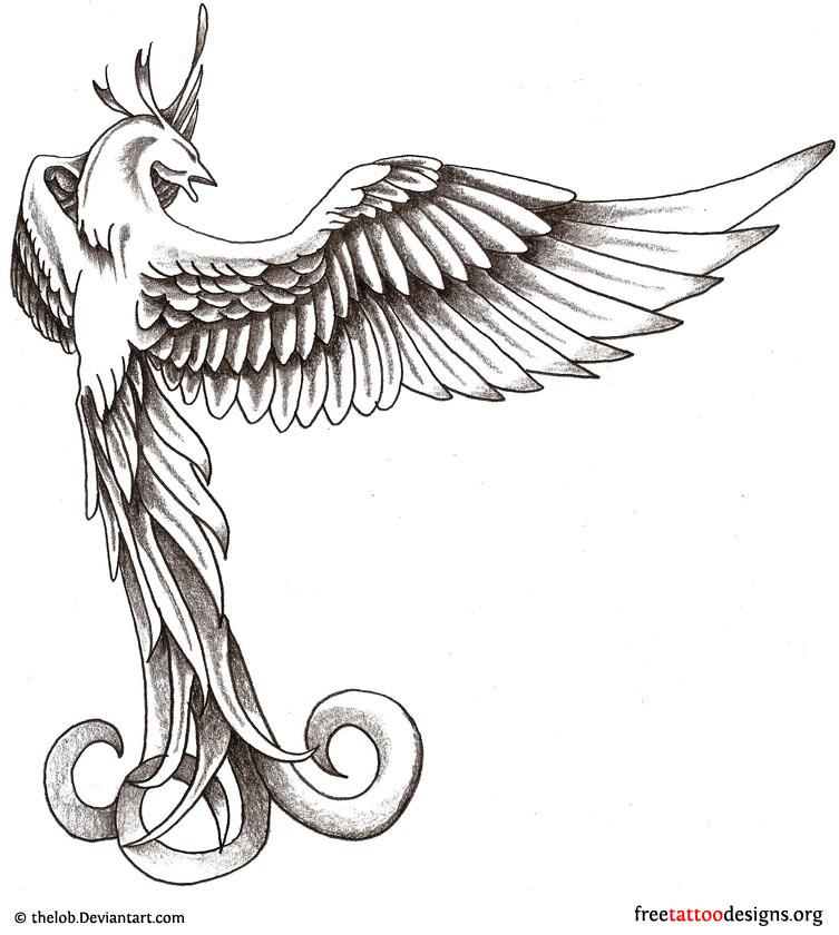 680c7f0af Phoenix Tattoos | 75 Cool Designs