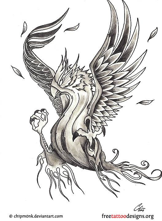 680c7f0af Phoenix Tattoos | 75 Cool Designs