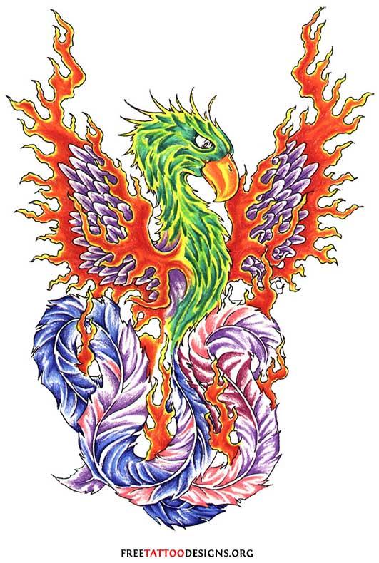 e6fdd7542c222 Blue phoenix tattoo design, Phoenix Tattoo Design, Fiery ...