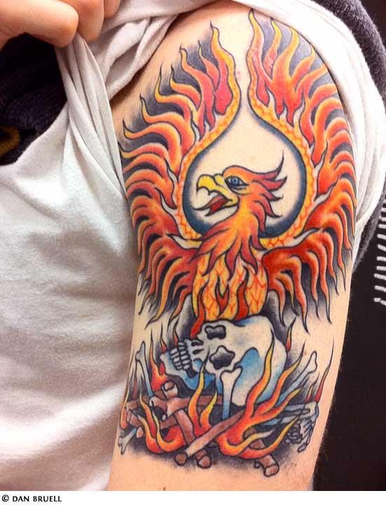 Phoenix Tattoo Designs Men