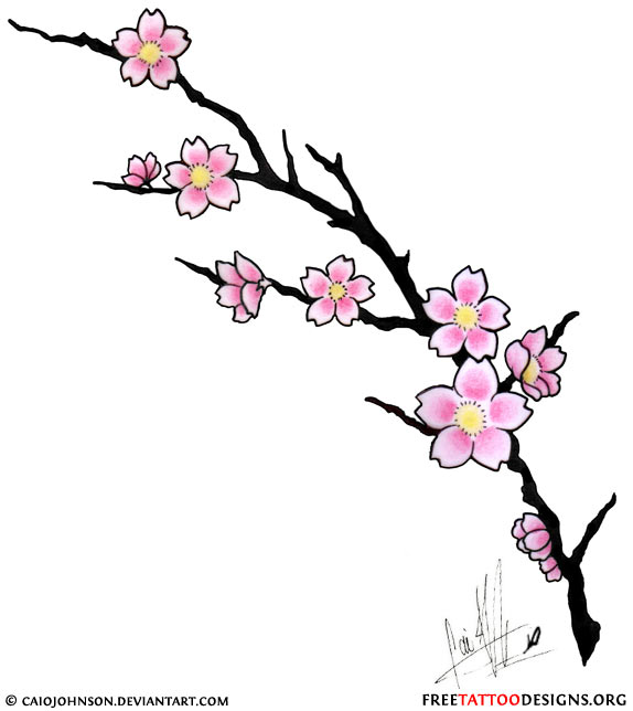 Gallery For gt Cherry Blossom Tattoo Stencil