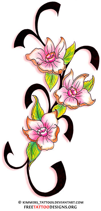flower tattoo gallery 70 flower designs. Black Bedroom Furniture Sets. Home Design Ideas