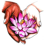 Pink lotus tattoo design