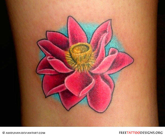 90 lotus flower tattoos for Lotus flower and butterfly tattoo designs