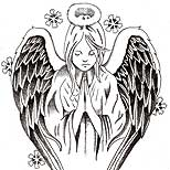 Praying angel tattoo design
