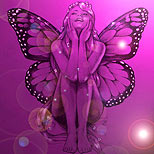 Purple fairy tattoo design
