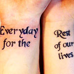 Quote: Everyday for the rest of our lives