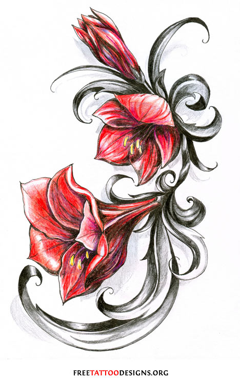 Flower tattoo gallery 70 flower designs for Free tattoo design