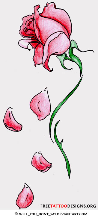 Flower Petals Line Drawing : Flower tattoo gallery designs