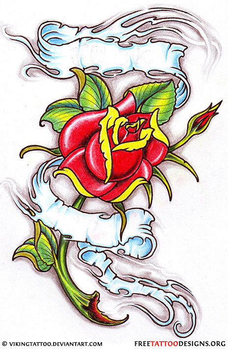 50 rose tattoos meaning for Rose tattoo patterns