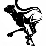 Running panther tattoo design