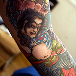 Samurai tattoo on arm