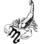 Scorpio symbol and scorpion tattoo design
