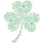 Green shamrock tattoo design