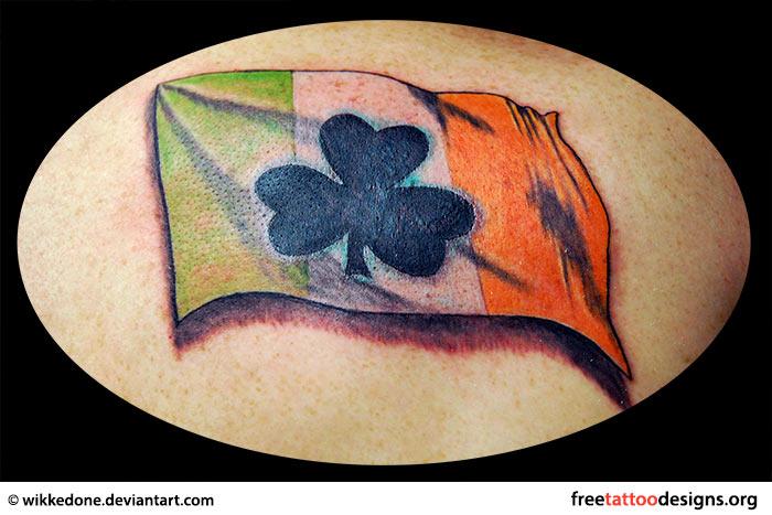 77 irish tattoos shamrock clover cross claddagh