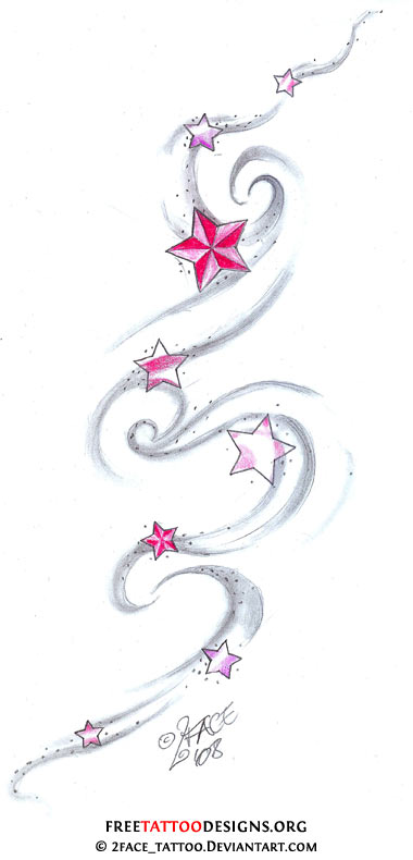 01dab5c88 Star Tattoos | Shooting Stars and Nautical Star Tattoo Designs