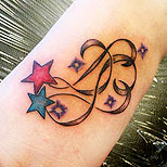 Shooting star tattoo on foot