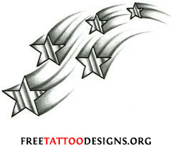 Star tattoos shooting stars and nautical star tattoo designs shooting stars shooting star tattoo urmus Image collections