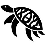Simple turtle tattoo design