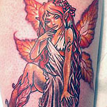 Sitting fairy tattoo