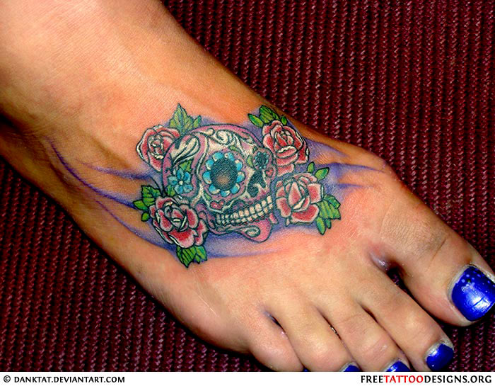 Skull Foot Tattoos