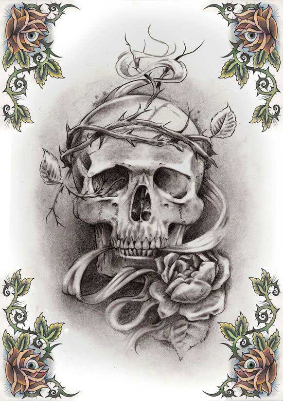 SKULL TATTOO PATTERNS - FREE PATTERNS
