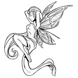 Sleeping fairy tattoo design