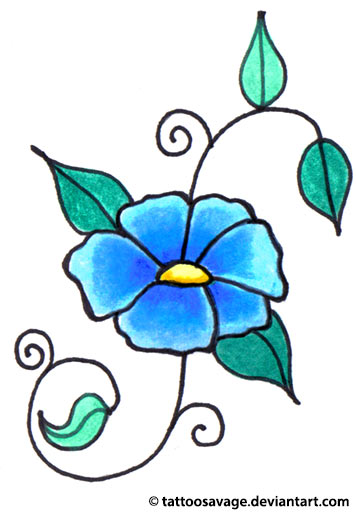 ... Small Flower Tattoo Design