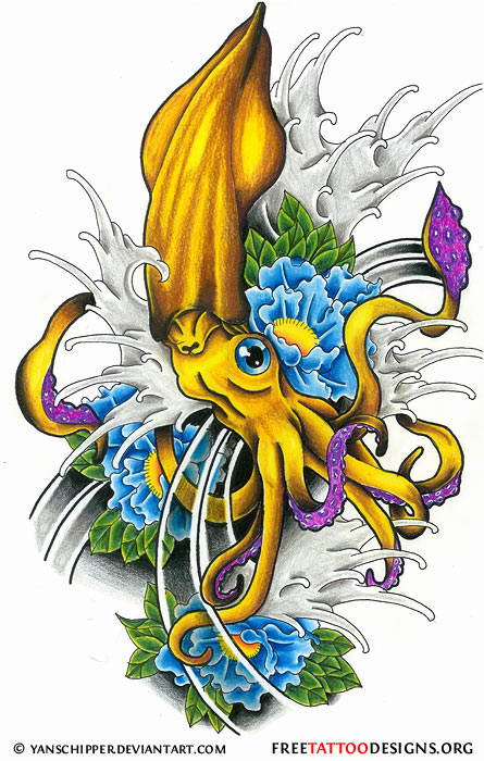 Octopus Tattoo Cartoon Pictures Picture