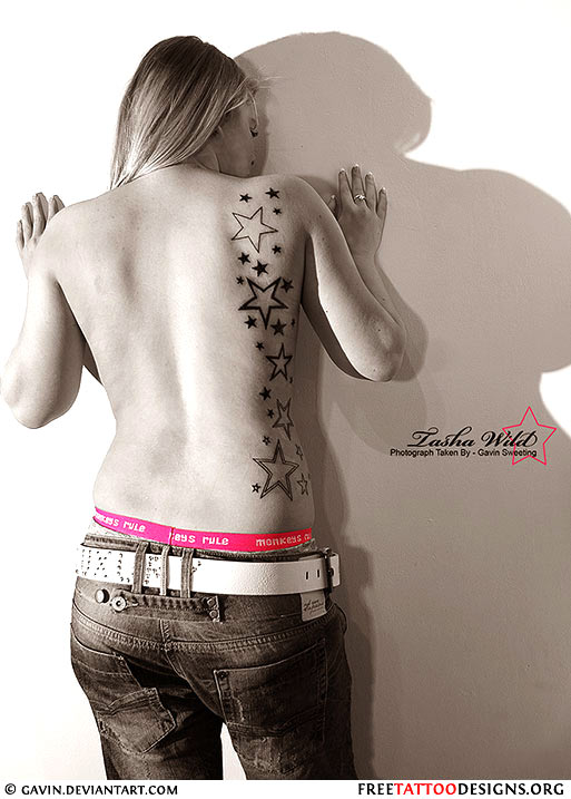 Star Tattoos On Side