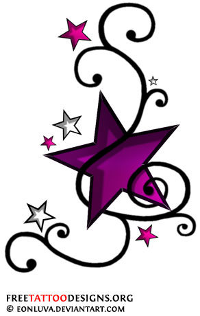 star tattoos shooting stars and nautical star tattoo designs. Black Bedroom Furniture Sets. Home Design Ideas