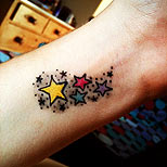 Stars tattoo on wrist