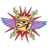Sun eye tattoo design