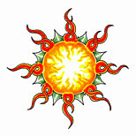 Sun tattoo design