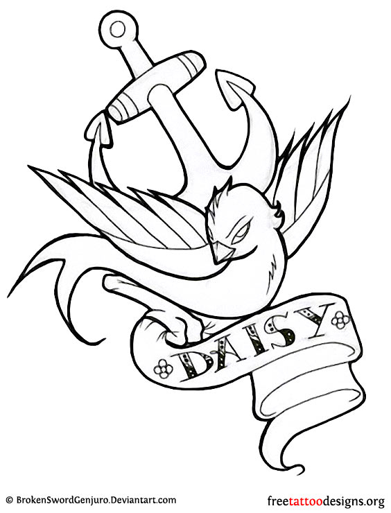 Name Banner Tattoo Designs