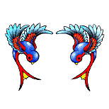 Swallows tattoo design