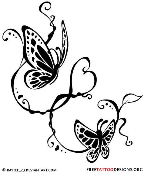 Pics Photos Pin Butterfly Swirl Tattoos
