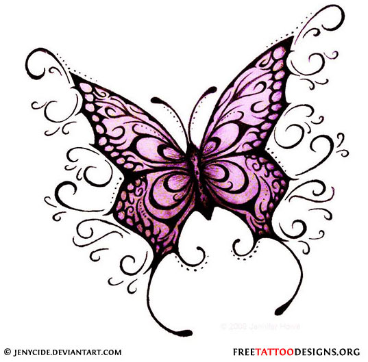 Gothic Butterflies Colouring Pages