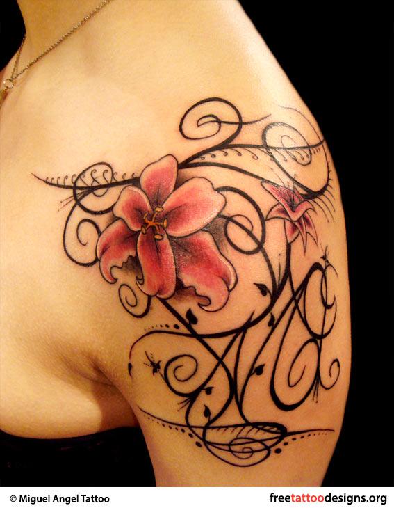 Feminine Swirl Tattoos Designs