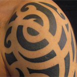 Swirly tribal