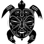 Ta moko turtle tattoo