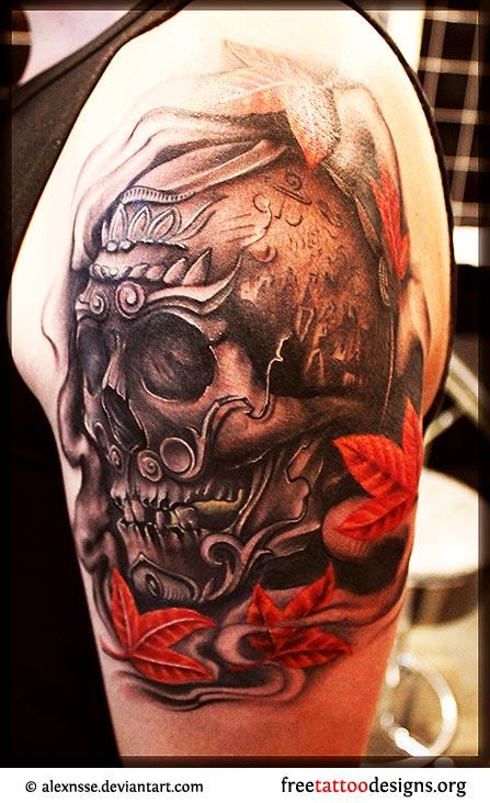 Tibetan Skull Tattoo Designs