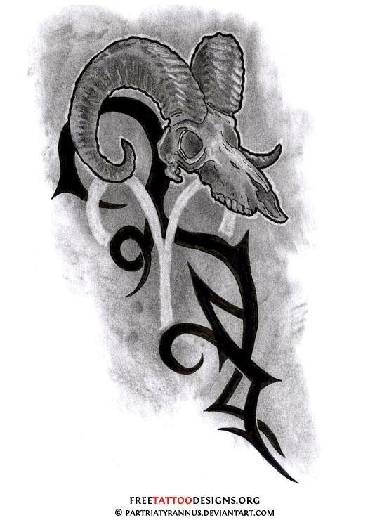 30d422af5 35 Aries Tattoos | Ram Tattoo Designs
