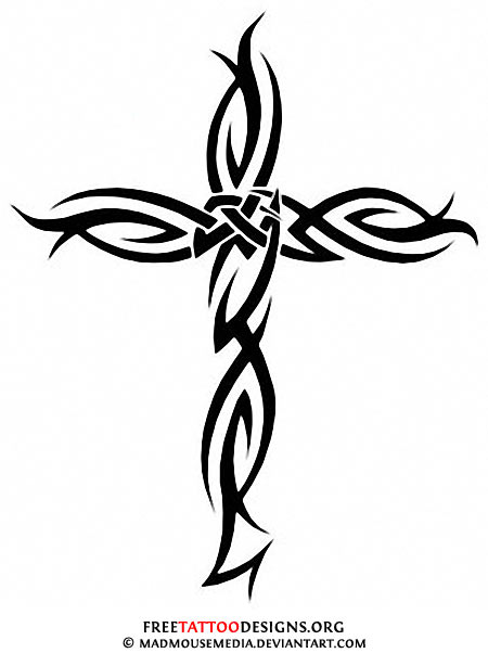 Horizontal Cross Tattoo Tribal Cross Tattoo