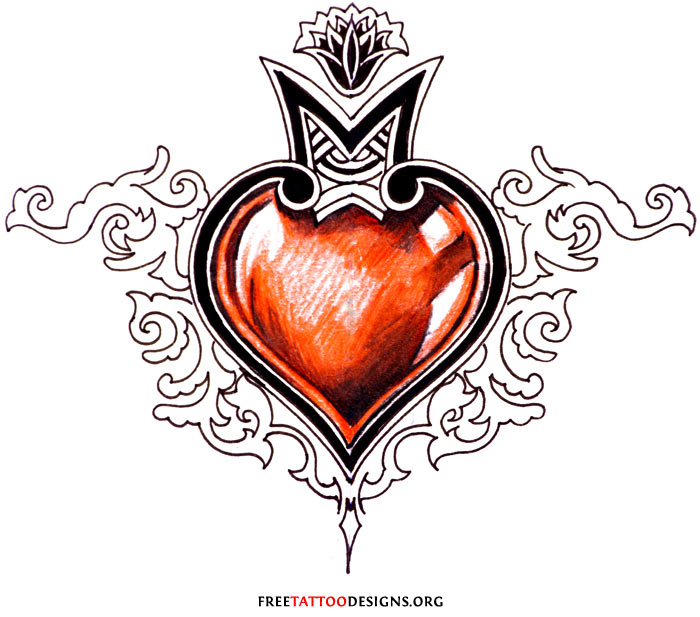 Human Heart Tattoo