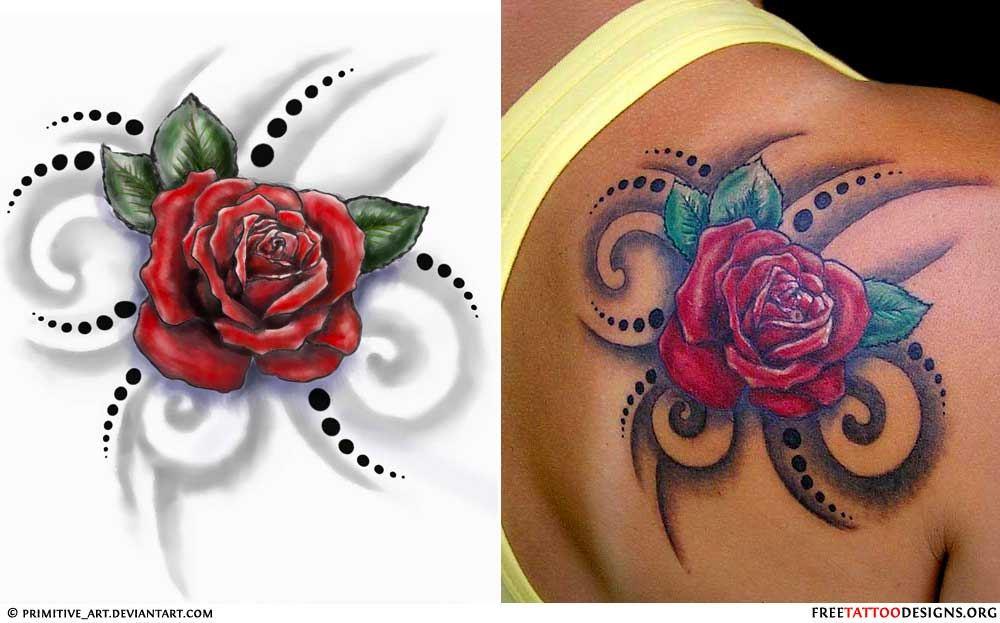 cover up to tattoos tribal names rose design   tattoo Tribal