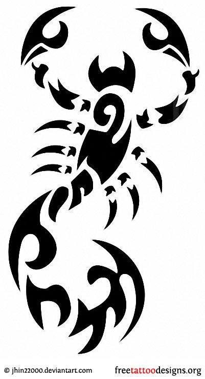 Tribal scorpion tattoos - photo#15