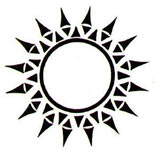 Tribal sun tattoo art